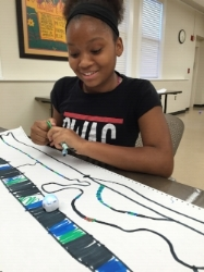 The Library Foundation - Girl with ozobot